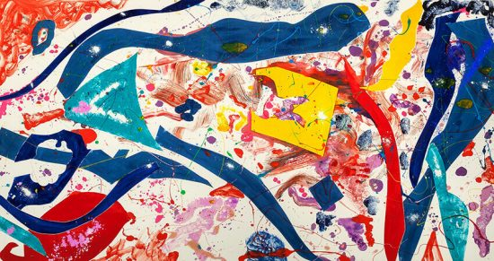 Sam Francis Monotype, Untitled, 1986