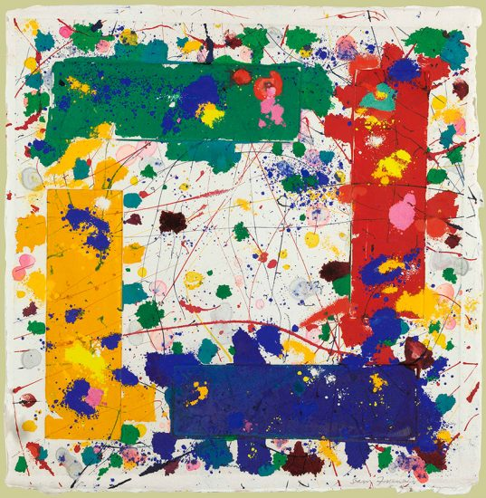 Sam Francis Monotype, Untitled,1980