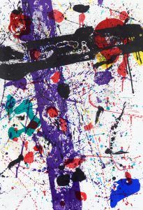 Sam Francis Lithograph, Untitled, from Eight By Eight to Celebrate the Temporary Contemporary, 1983