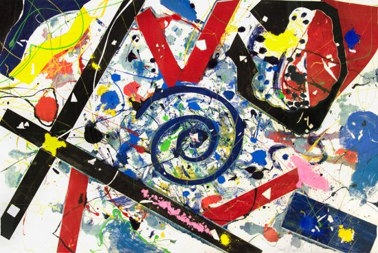 Sam Francis Monotype, Untitled, c.1989