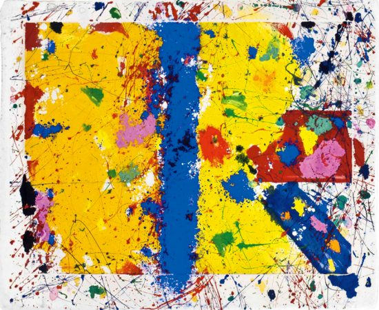 Sam Francis Monotype, Untitled Acting, 1979