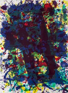 Sam Francis Lithograph, Untitled from the Papierski Portfolio, 1992