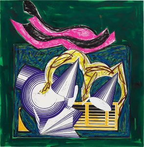 Frank Stella Screen Print, One Small Goat Papa Bought for Two Zuzim, 1984