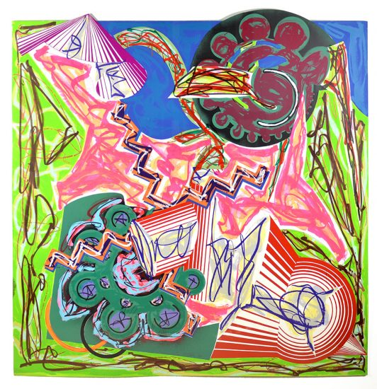 Frank Stella Lithograph, Then Came an Ox and Drank the Water, 1984