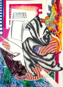 Frank Stella Silkscreen, Moby Dick from The Waves, 1989