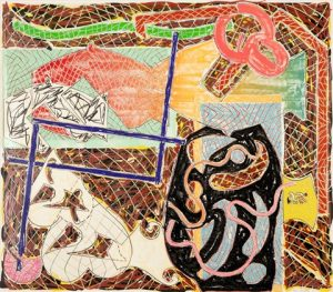 Frank Stella Lithograph, Shards II, 1982