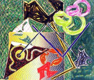 Frank Stella Shards V, 1982
