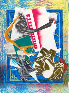 Frank Stella Silkscreen, Going Abroad from The Waves, 1989, Unique Color Trial Proof