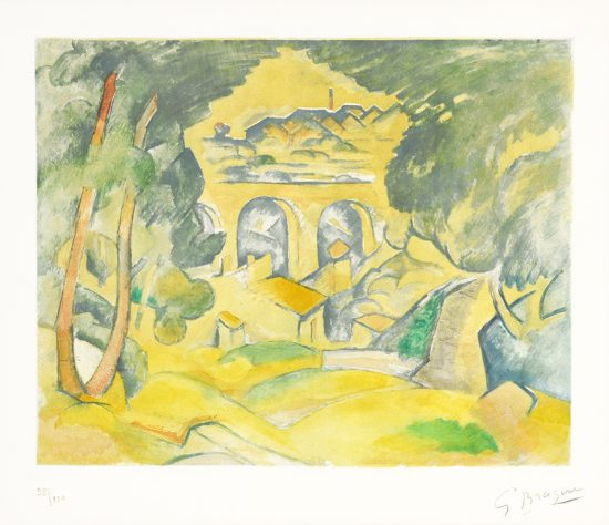 Georges Braque Aquatint, Le Viaduc de l'Estaque (The Viaduct at l'Estaque), c. 1950