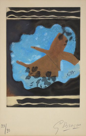 Georges Braque Lithograph, Migration, 1962