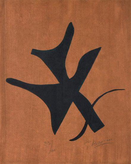Georges Braque Engraving, Si je Mourais la -bas (If I Die Over There), 1962