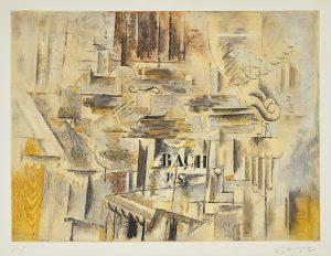 Georges Braque Etching, Hommage à J.S. Bach, c. 1950s