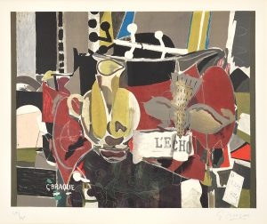 Georges Braque Lithograph, L'Echo (The Echo), 1960