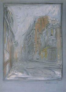 Alberto Giacometti Lithograph, Rue d'Alesia