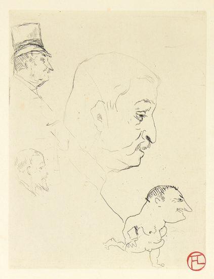 Henri de Toulouse-Lautrec Etching, Croquis, 1898