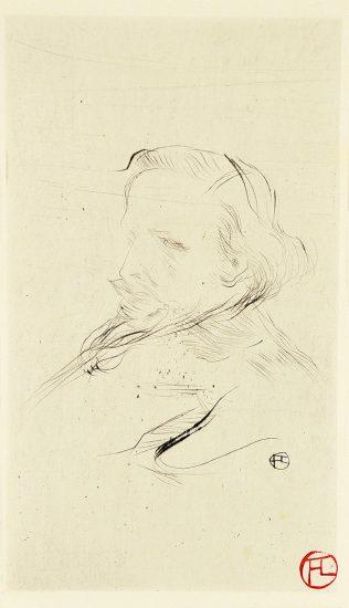 Henri de Toulouse-Lautrec Etching, Francis Jourdain, 1898