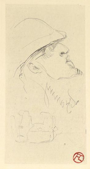 Henri de Toulouse-Lautrec Etching, L'explorateur, Vicomte de Brettes, 1898