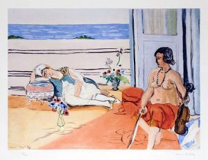 Henri Matisse Aquatint, Odalisque sur la terrasse (Odalisque on the Terrace), 1922
