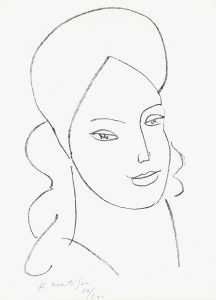 Henri Matisse Lithograph, Saint Catherine, 1946