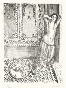 Henri Matisse Lithograph, Odalisque debout au plateau de fruits (Odalisque Standing with Fruit Tray), 1924