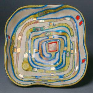 Friedensreich Hundertwasser Ceramic, Spiralental, 1983