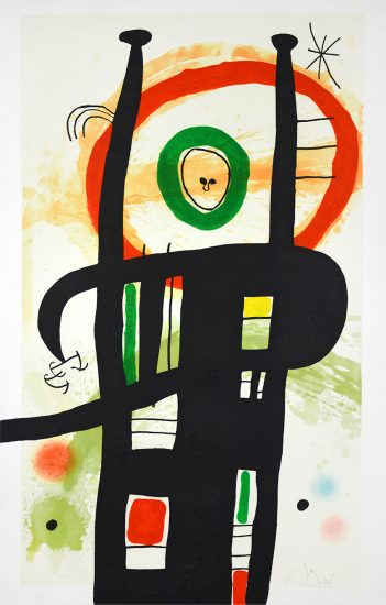 Joan Miró Lithograph, Le Grand Ordonnateur (The Big Organizer), 1969