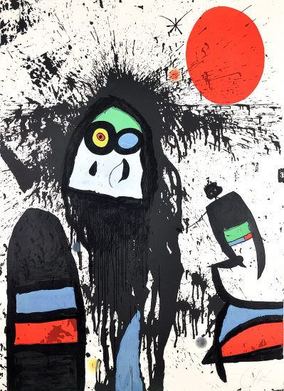 Joan Miró Lithograph, La Ruisselante Solaire (The Solar Dripping) 1976