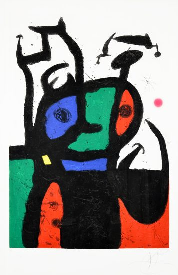 Joan Miró Etching, Le Matador (The Matador), 1969