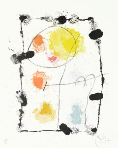 Joan Miró Lithograph, Je travaille comme un jardinier (I work like a gardener), 1963