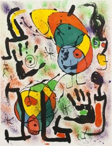 Joan Miró Lithograph, Les Voyants (The Seers) Pl. 6, 1970
