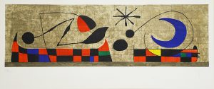 Joan Miró Lithograph, Mur de la lune (Moon Wall), 1958