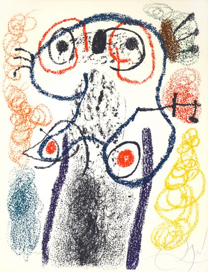 Joan Miró Lithograph, Plate 9 from 'Album 21', 1978