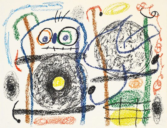 Joan Miró Lithograph, Plate 15 from 'Album 21', 1978