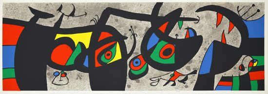 Joan Miró Lithograph, Plate III from Le Lézard aux plumes d'or (The Lizard with Golden Feathers), 1971
