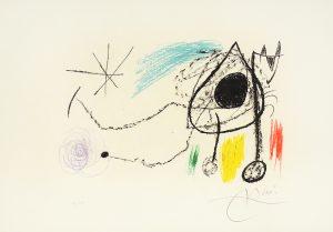 Joan Miró Lithograph, Sobreteixims i escultures (Textiles and Sculptures), 1972