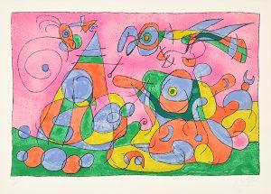 Joan Miró Lithograph, Ubu Roi (King Ubu ) from Suites por Ubu Roi, 1966