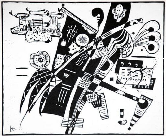 Wassily Kandinsky Woodcut, Holzschnitt (Woodcut), c. 1935