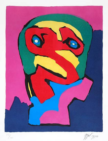 Karel Appel Lithograph, Composition I, 1970