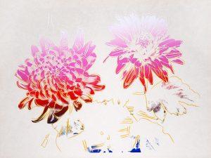 Andy Warhol Screen Print, Kiku, (Chrysanthemum),1983