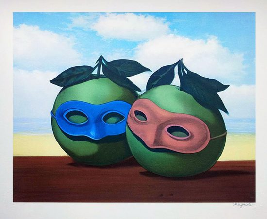 René Magritte Lithograph, The Hesitation Waltz
