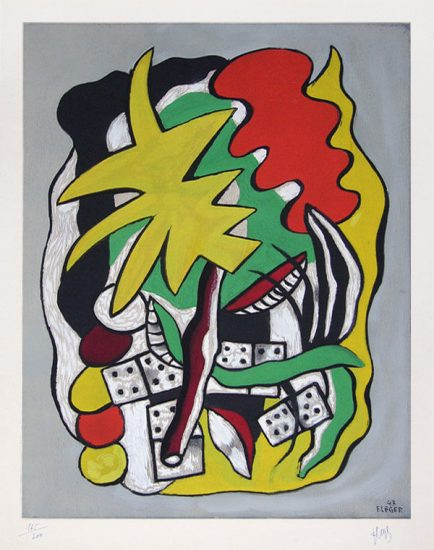 Fernand Léger Lithograph, Composition aux dominos, 1947