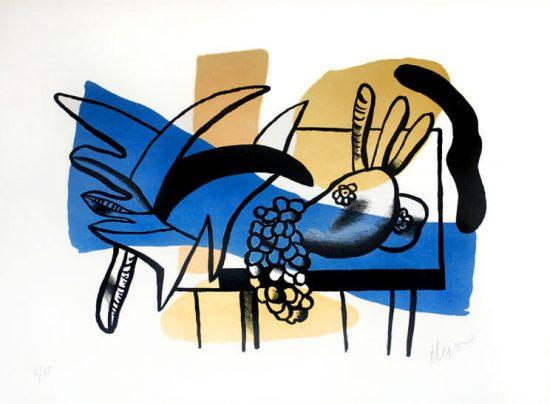 Fernand Léger Lithograph, Nature Mort aux Fruits, 1948