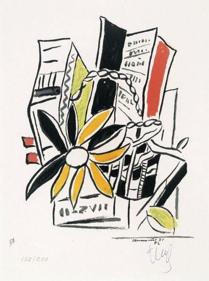 Fernand Léger Serigraph, Chevreuse Août, 1951