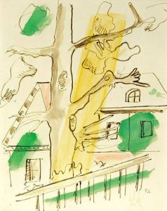 Fernand Léger Mixed, Composition á l'arbre, 1948