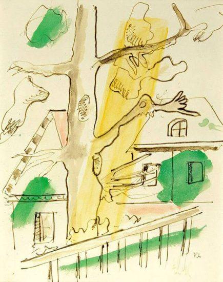 Fernand Léger Mixed, Composition á l'arbre, 1948