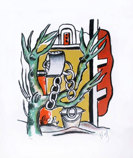 Fernand Léger Lithograph, Le Puits (The Well), 1951
