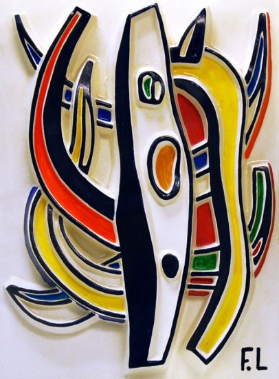 Fernand Léger Ceramic, Abstract Composition, 1953
