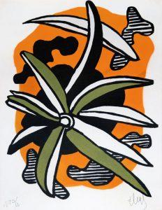 Fernand Léger Lithograph, La Fleur (The Flower), 1952