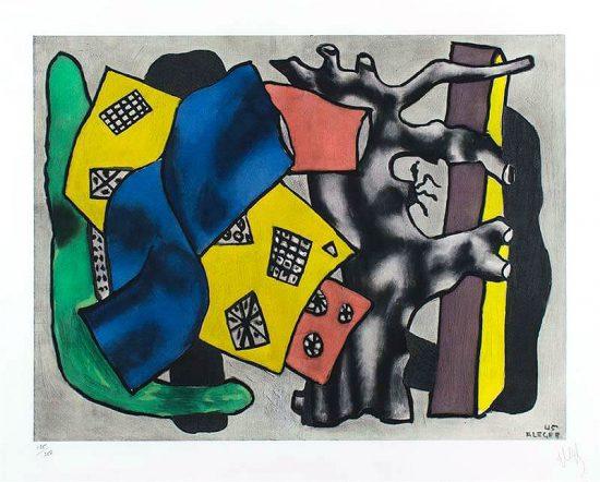 Fernand Léger Lithograph, La Racine Grise (The Gray Root), c. 1953