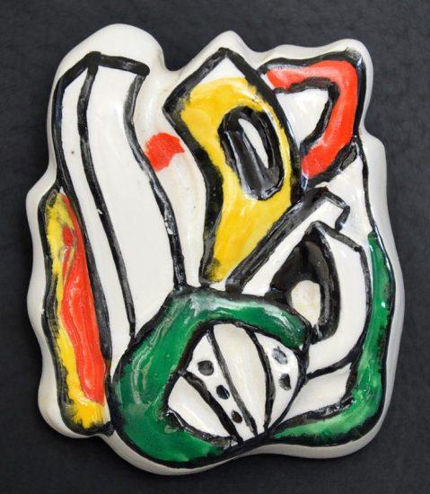 Fernand Léger Ceramic, Médaillon (Medallion)